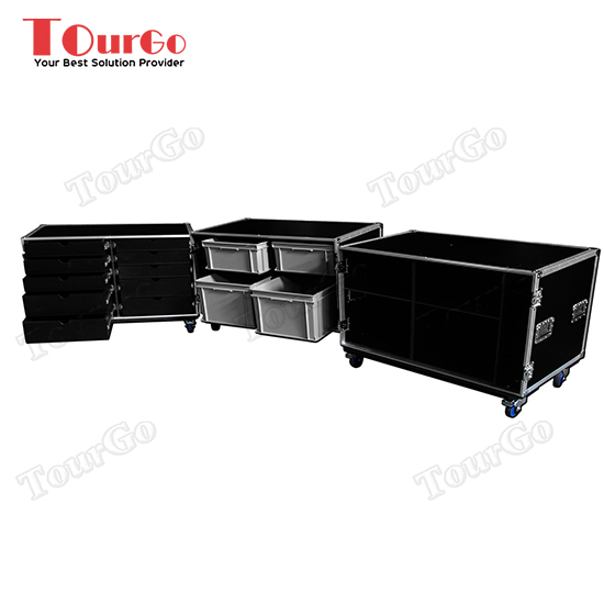 TourGo Triple Production Storage Flight Cases