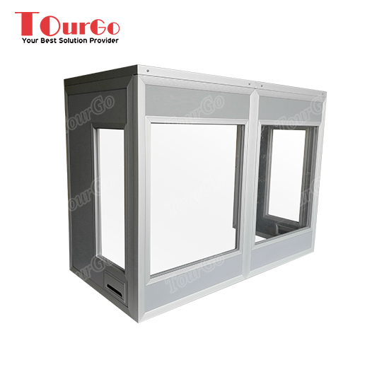 TourGo Customized Portable Tabletop Interpreter Booths for Two Person Size :120 x 60 x 90cm