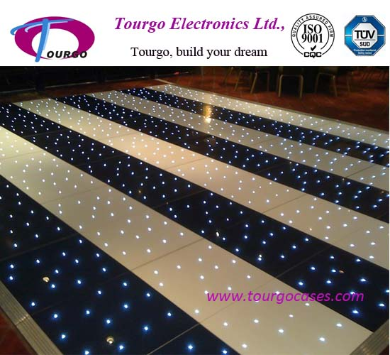 Black and White Starlit LED Dance Floor
