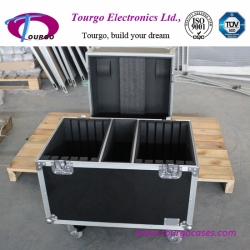 Road Case Package for 10pcs Base Plate