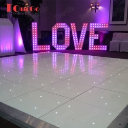 TourGo 20ft x18ft Wholesale Wedding White Starlit Dance Floor with LED LOVE Letter