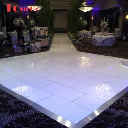TourGo 22X22ft portable mobile sparking white starlit dance floor for sale