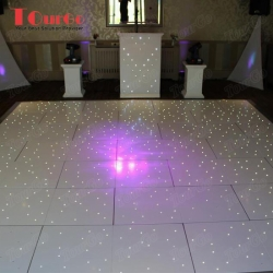 TourGo Wholesale Portable LED twinkling white dance floor on sales 24 x 20ft