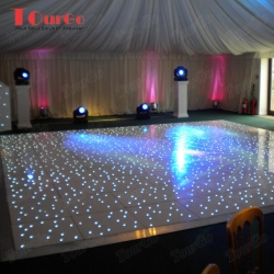 TourGo beautiful 28ft by 28ft LED white sparking starlit dance floor for wedding party