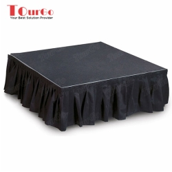 TourGo Portable Stage Skirting 4ft x 4ft Stage Platform for Exhibition Stage