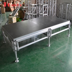 TourGo 4ft x 8ft Portable Outdoor Concert Aluminum Stage for Stage Rental
