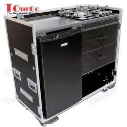 TourGo Custom Production Flight Case With Large Fridge + Gas Hob