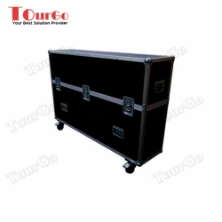 TourGo Plasma Screen Twin Flight Case 65 Custom built