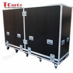 TourGo Split Top 75 LCD Plasma Flight Case With Pro Riser Lift