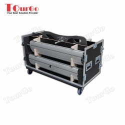 TourGo Smart Metals 062.1000B / 062.3000B Twin LCD and Plasma Stand Base And Bracket Flight case