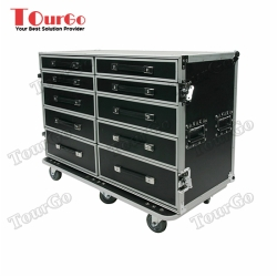 TourGo 7 Drawer Audio Sound Tech Production Utility Road Tour Stage Case