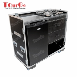 Custom Production Flight Case With Large Fridge & Gas Hob