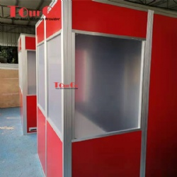 Two Person Interpretation Booth With Red Color Made By TourGo