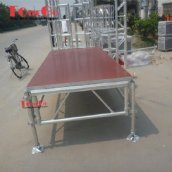 Aluminum Red Non-slip Stage Platform For School Performance Event