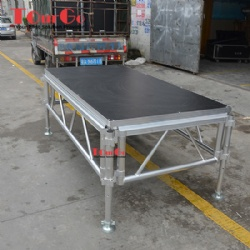 TourGo Aluminum Stage With Non-slip Stage Platform For Outdoor Event