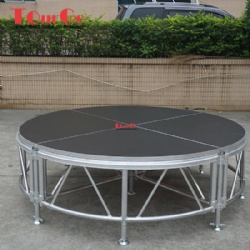 Adjustable Aluminum Outdoor Round Stage With Non-Slip Stage Platform
