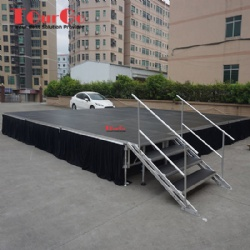 Concert Retractable Folding Aluminum Portable Stage For Outdoor Event