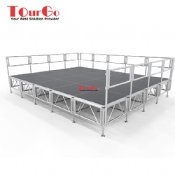 Aluminum Portable Mobile Outdoor Stage For Event Wedding Concert