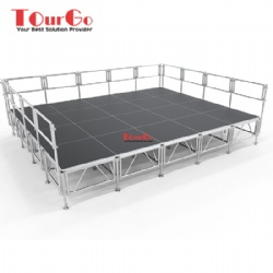 Adjustable Height Aluminium Indoor Outdoor Concert Truss Stage
