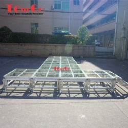 Aluminum Transparent Acrylic Glass Stage for Wedding