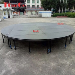 Aluminum Round Beyond Stage System For Outdoor Event