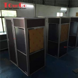 Customize one person interpreter booth with three doors: W900xD1500xH2000mm