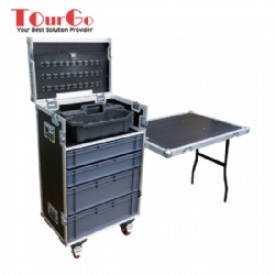 Mechanics Tool & Drawer Flightcase with Stanley Tote Tray
