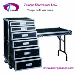 Rack Storage Drawer - 16U Rack with 4 Drawers: 2pcs 4U, 2pcs 3U and 1pcs 2U High