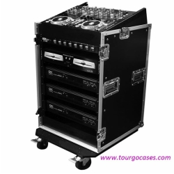 10U Slant Mixer Rack with 14U Vertical Rack System