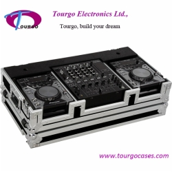 CD Coffin Cases - Case for 2pcs Small Format CD Players: Pioneer CDJ200, CDJ-400, Denon DN-S1000, DN-S1200, Numark players plus 12inch mixer: Pioneer 800 ,700, Behringer DJX-750, DDM-4000, Gemini CS-02, Denon DN-1500, DN-X1100, DN-X170