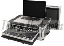 DJ Mixer Cases -  ATA Case For Vestax VCI300 With Laptop Storage and Pull-out VCI300 Compartment