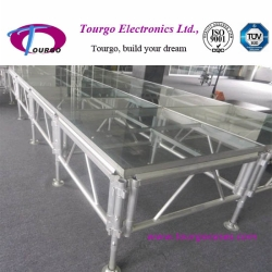 Tourgo Aluminum Stage with Glass Surface